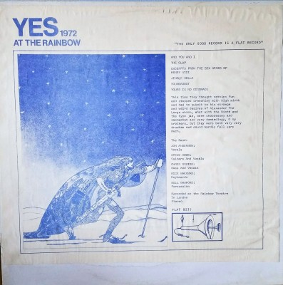 Yes  Live At The Rainbow 1972