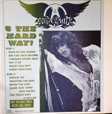 AEROSMITH - 5 THE HARD WAY!  Ruthless Rhymes Records