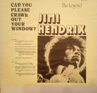 JIMI HENDRIX - CAN YOU PLEASE CRAWL OUT YOUR WINDOW  Dragonfly Records