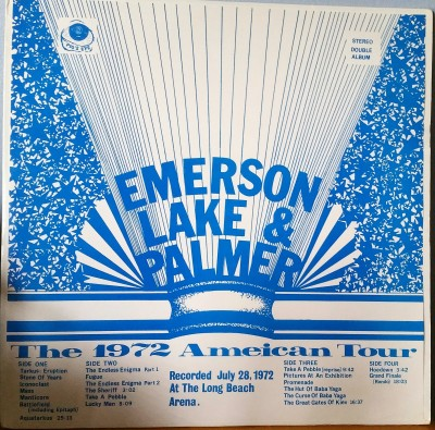 EMERSON LAKE & PALMER  THE 1972 TOUR   Pig's Eye