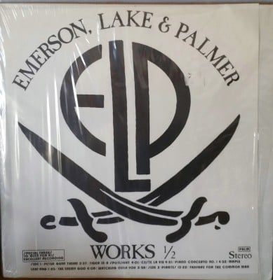 EMERSON LAKE & PALMER  WORKS 1/2  Slipped Disc Records