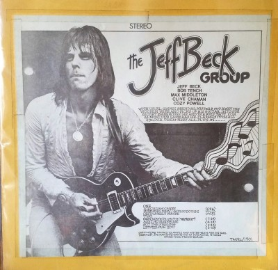 JEFF BECK GROUP  EUROPEAN TOUR  TAKRL 1901