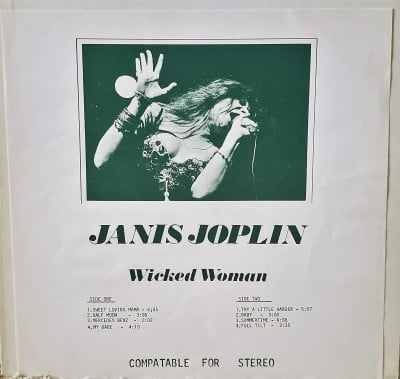 JANIS JOPLIN  WICKED WOMAN  Memory Records JJ713